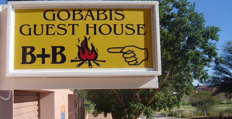 Sign outside Gobabis Guesthouse